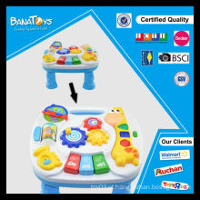 Brinquedo educativo quente com luz e música kids learning table